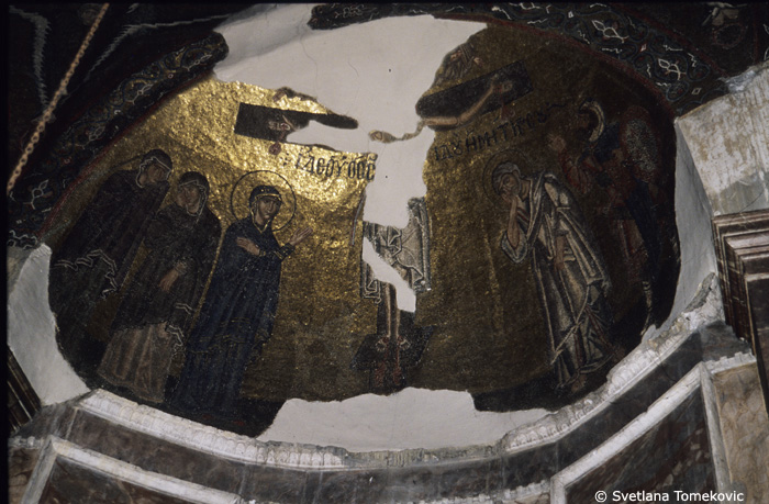 Mosaic, showing Crucifixion in apse dome