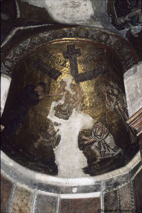 Mosaic, showing the Deposition in apse dome