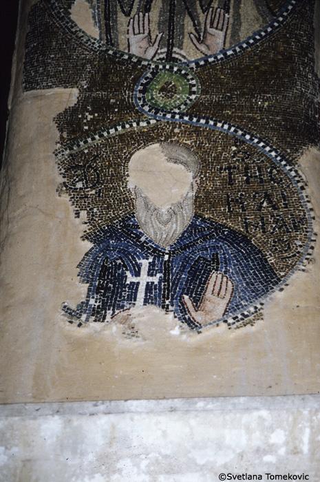 Mosaic, showing saint