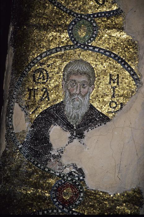 Mosaic showing saint