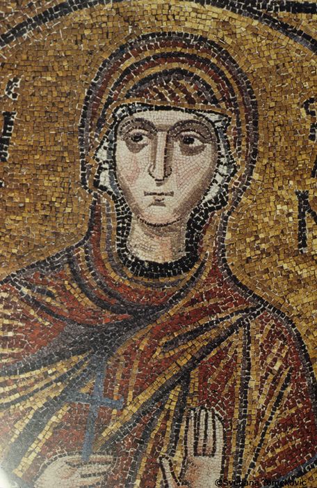 Mosaic, showing detail of Anna