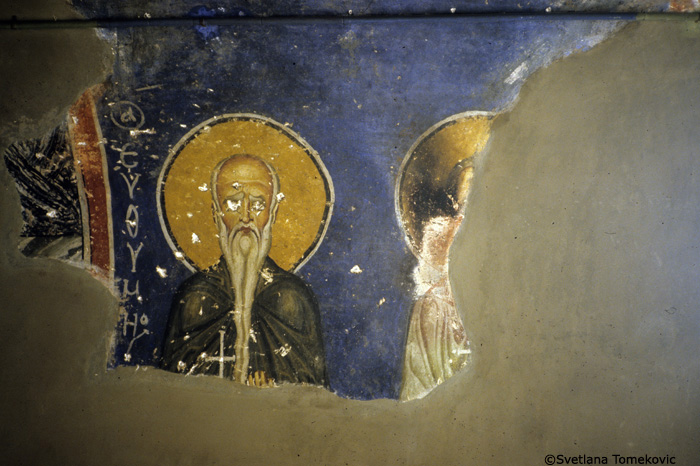 Fresco showing saints