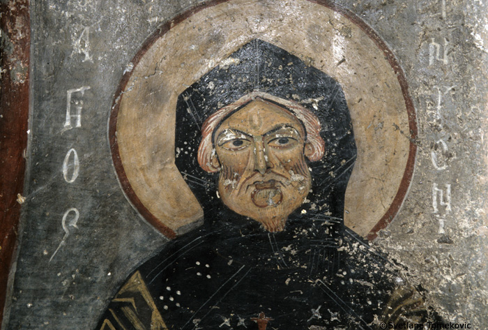 Fresco, St. Anthony, detail