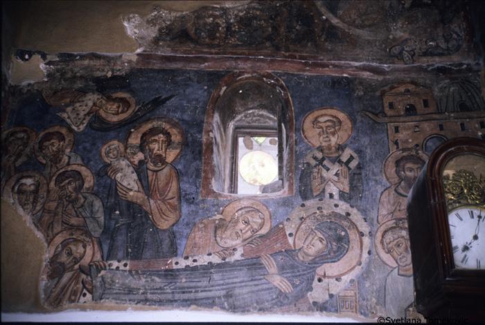 Fresco, Dormition