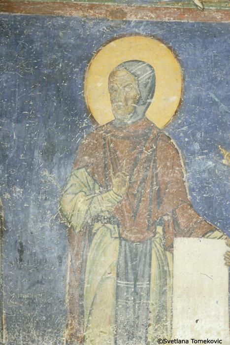 Fresco, detail of west wall
