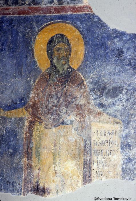 Fresco, northwest wall, showing Anthony