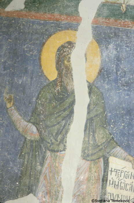 Fresco, north wall, detail of no. 98