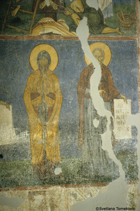 Fresco, detail of nave, north arm, west wall