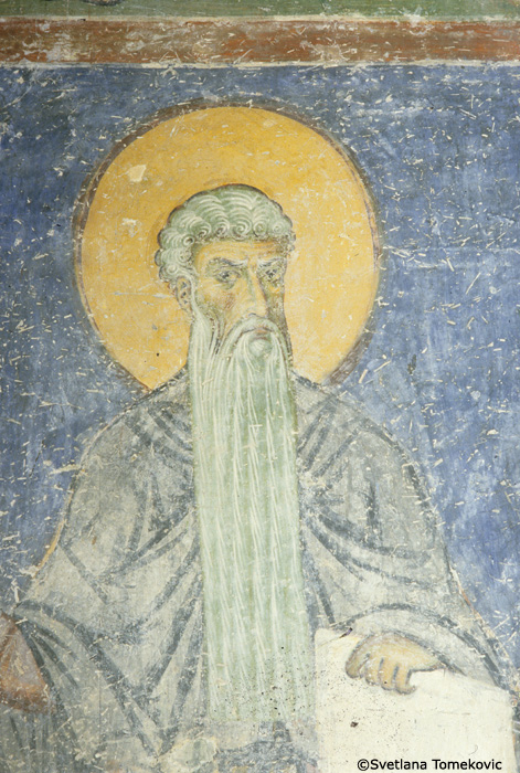 Fresco, west wall, detail of no. 114