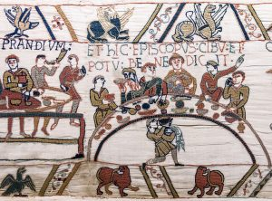 Feasting like a boss in the Bayeux Tapestry, ca. 1080