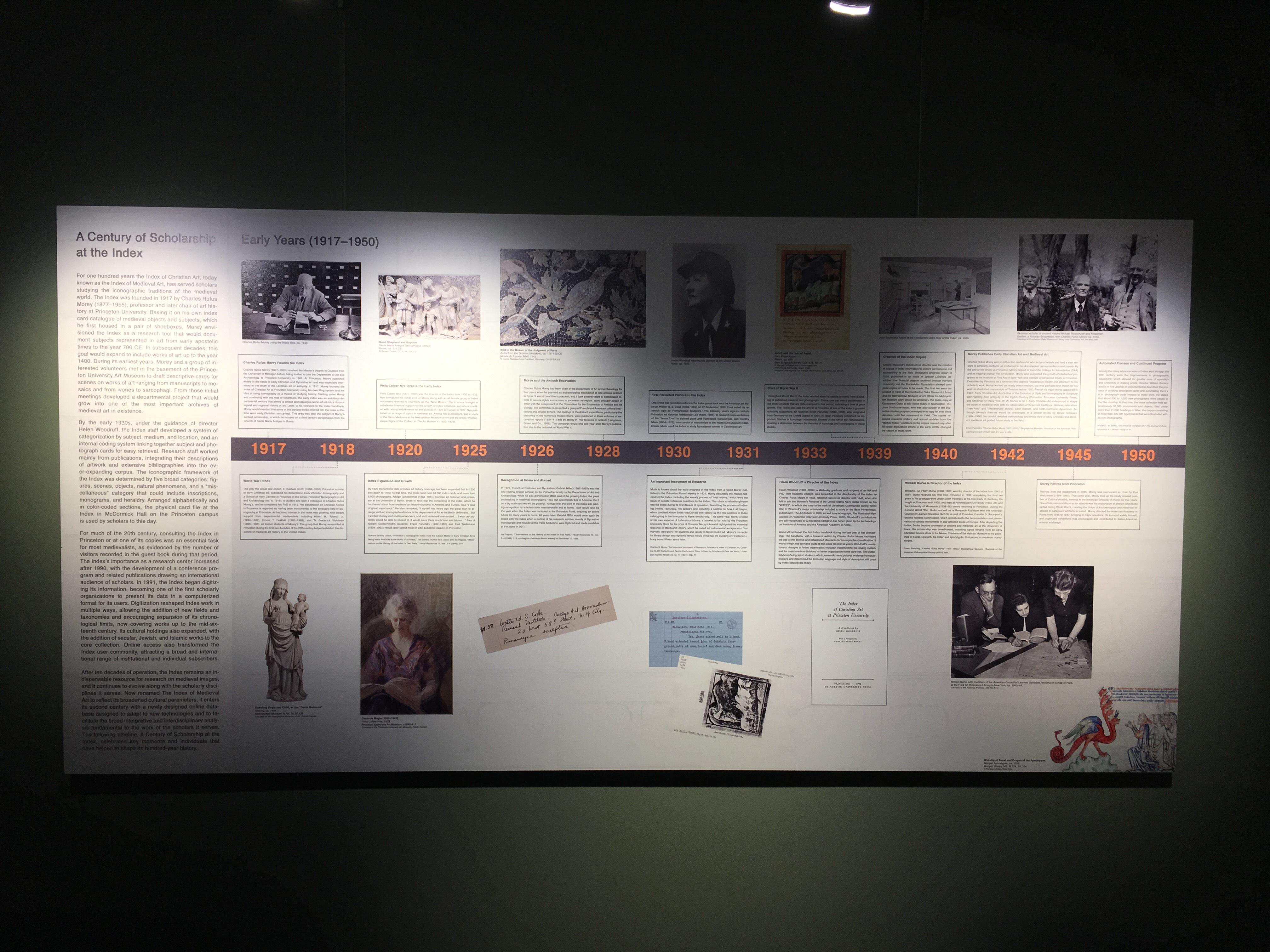 IMA Timeline Exhibit