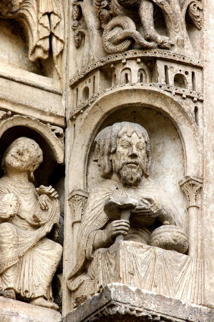 Figure of Janus on Chartres west portal