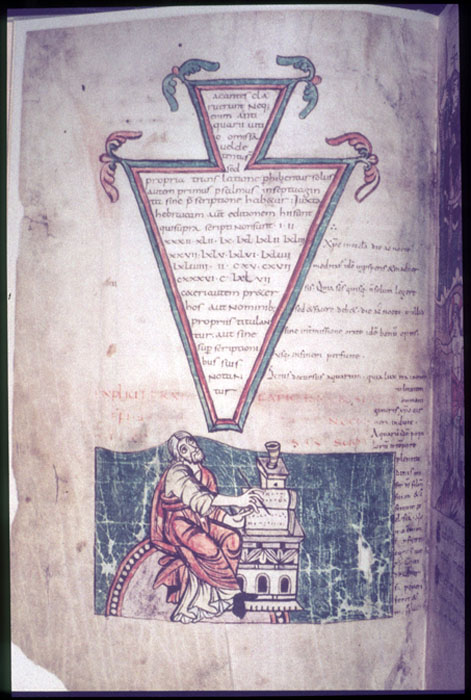 Image of Isidore of Seville at his desk