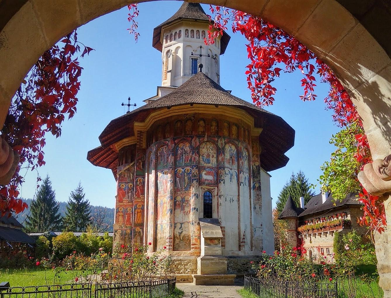 Exterior view of Moldovita Monastic Church