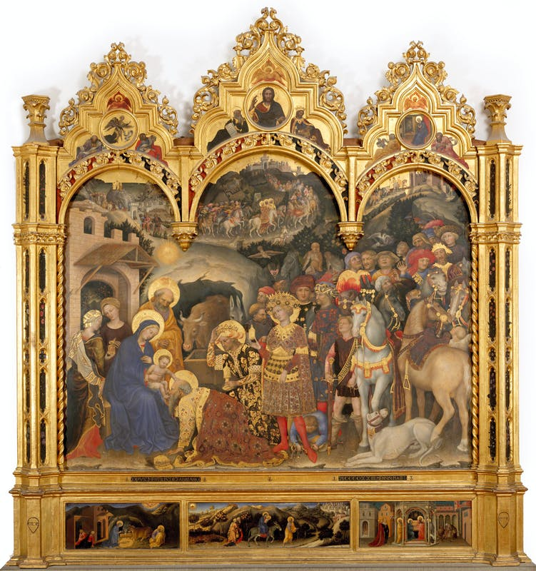 altarpiece of the adoration of the magi