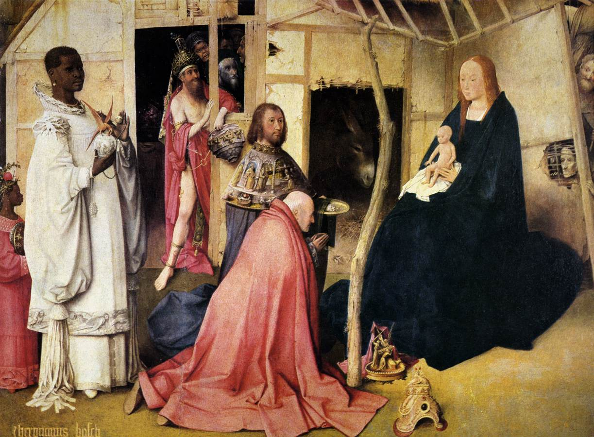 painting of the magi before the Virgin and Child