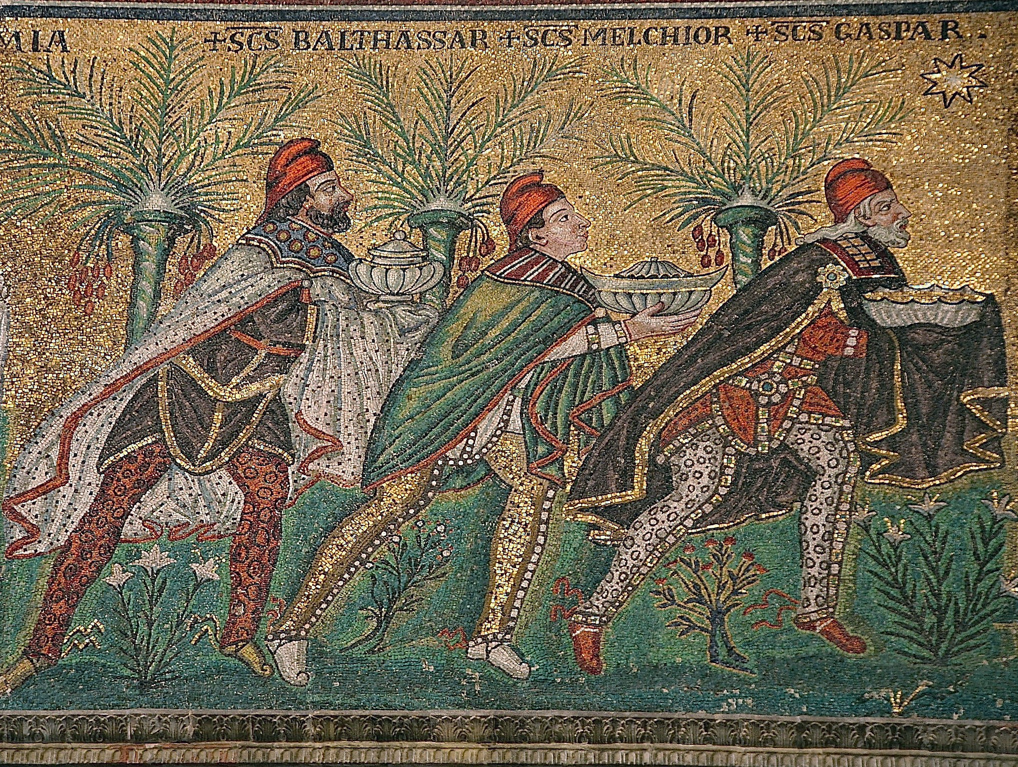 mosaic of the three magi