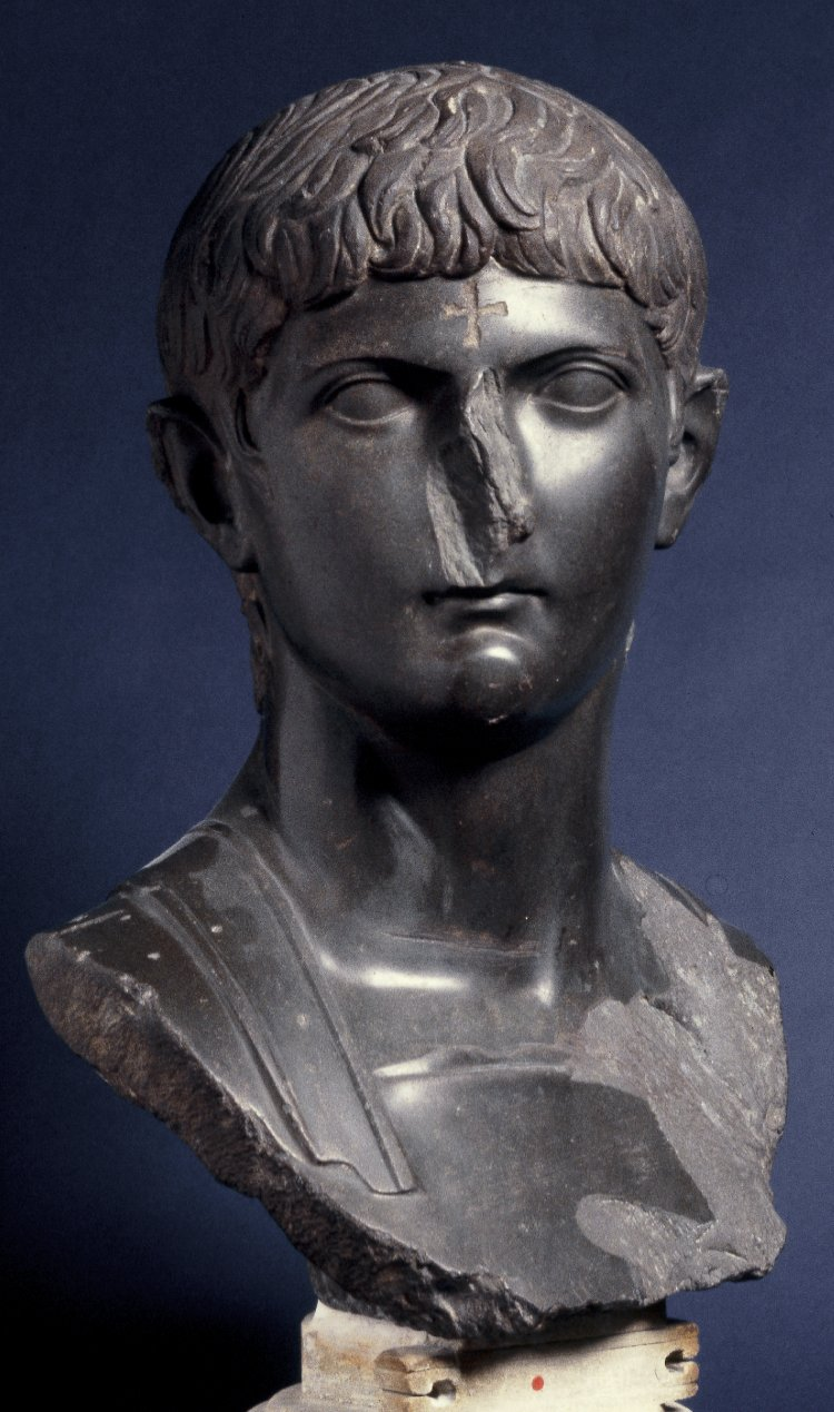 Portrait bust of Germanicus Caesar, ca. 14-20 CE, Roman original with medieval alterations. London, British Museum, 1872,0605.1