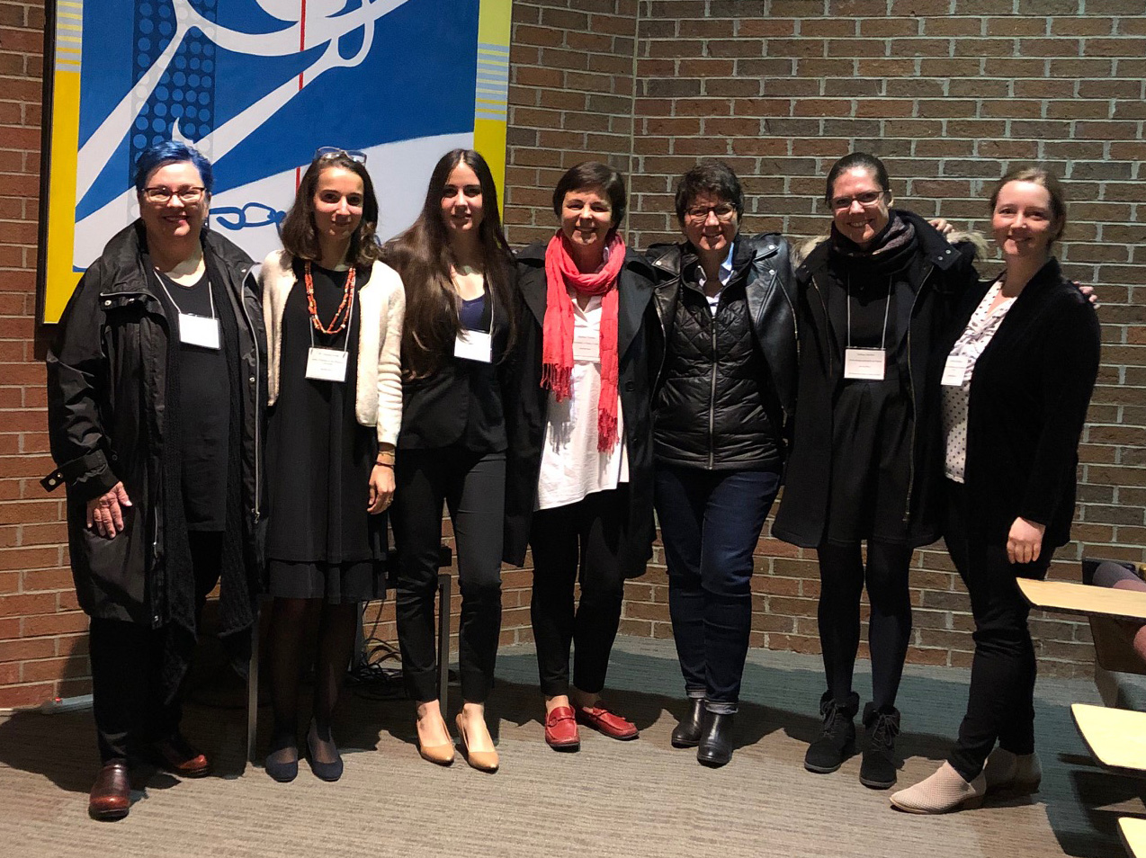 Roundtable participants (from l-r) Anne Stanton, Maria Alessia Rossi (organizer), Konstantina Karterouli, Marina Vicelja, Isabelle Marchesin, Sabine Maffre, and Jessica Savage (organizer) at the Kalamazoo Congress.
