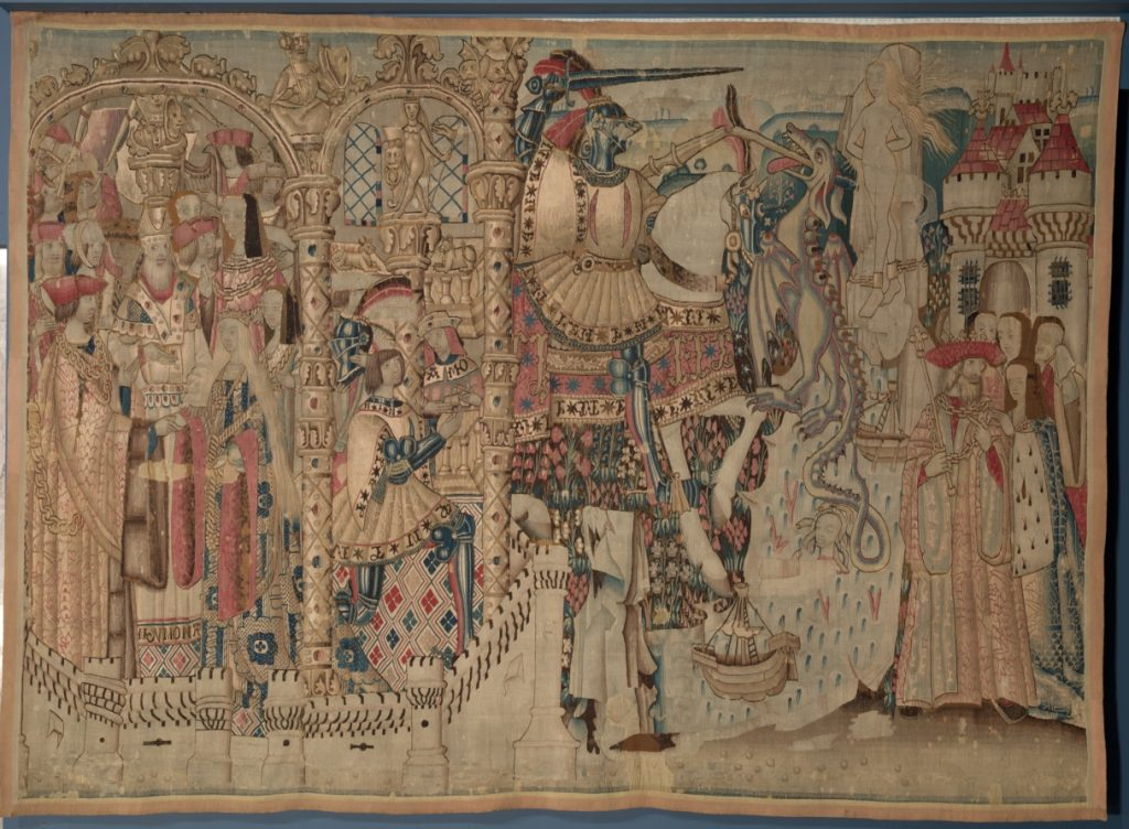 Tapestry with scenes of Perseus and Andromeda